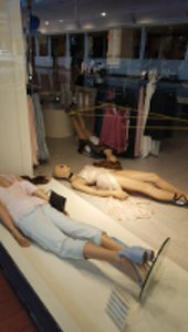 Mannequins after earthquake